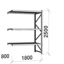 Laoriiul jätkuosa 2500x1800x800 480kg/tasapind,3 tsinkplekk tasapinda