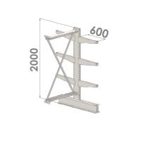 Grenställ följesektion 2000x1000x2x600,6 x arm