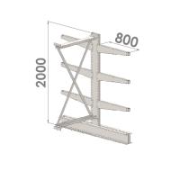 Grenställ följesektion 2000x1000x2x800,6 x arm