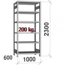 Laoriiul põhiosa 2300x1000x600 200kg/riiuliplaat,6 plaati
