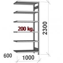 Laoriiul lisaosa 2300x1000x600 200kg/riiuliplaat,6 plaati