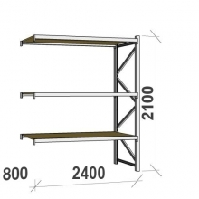 Extension bay 2100x2400x800 300kg/level,3 levels with chipboard