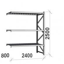 Laoriiul jätkuosa 2500x2400x800 300kg/tasapind,3 tsinkplekk tasapinda