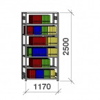 Arhiiviriiul põhiosa 2500x1170x300 200kg/riiuliplaat,7 plaati