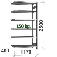 Laoriiul lisaosa 2500x1170x400 150kg/riiuliplaat,6 plaati