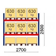 Starter Bay 2500x2700 630kg/pallet, 9 EUR pallets