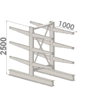 Starter bay 2500x1000x2x1000,4 levels
