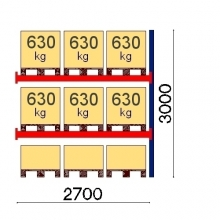 Add On Bay 3000x2700, 630kg/pallet, 9 EUR pallets