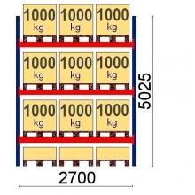 Kaubaaluse riiul põhiosa 5025x2700 1000 kg/alus 12 alust OPTIMA