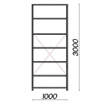 Starter bay 3000x1000x600 150kg/shelf,7 shelves