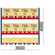 Starter bay 4000x3600 750kg/pallet, 12 pallets, Optima