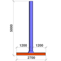 T-post 5000x2x1200