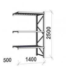 Laoriiul jätkuosa 2500x1400x500 600kg/tasapind,3 tsinkplekk tasapinda