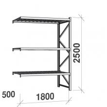 Laoriiul jätkuosa 2500x1800x500 480kg/tasapind,3 tsinkplekk tasapinda