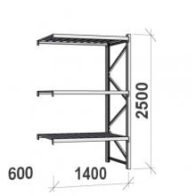 Laoriiul jätkuosa 2500x1400x600 600kg/tasapind,3 tsinkplekk tasapinda