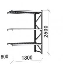 Laoriiul jätkuosa 2500x1800x600 480kg/tasapind,3 tsinkplekk tasapinda