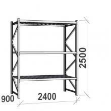 Laoriiul põhiosa 2500x2400x900 300kg/tasapind,3 tsinkplekk tasapinda
