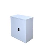 Dokumentskåp, 2 hyllor 1000x1000x500, grå, hopfällbar