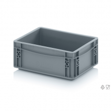 EURO CONTAINER SOLID 30x20x12 cm. Grey