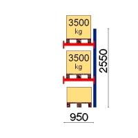 Kaubaaluse riiul lisaosa 2550x950 3500kg/alus,3 alust
