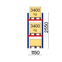 Kaubaaluse riiul põhiosa 2550x1150 3400kg/alus,3 alust