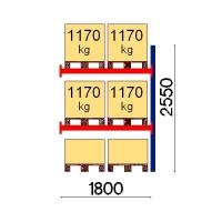 Kaubaaluse riiul lisaosa 2550x1800 1170kg/alus,6 alust