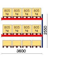 Kaubaaluse riiul lisaosa 2550x3600 805kg/alus,12 alust