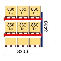 Kaubaaluse riiul lisaosa 3450x3300 860kg/alus,9 alust