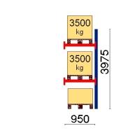Kaubaaluse riiul lisaosa 3975x950 3500kg/alus,3 alust