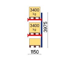 Kaubaaluse riiul lisaosa 3975x1150 3400kg/alus,3 alust
