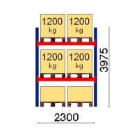 Kaubaaluse riiul põhiosa 3975x2300 1200kg/alus,6 alust