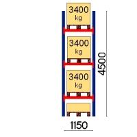 Starter bay 4500x1150 3400kg/pallet,4 FIN pallets