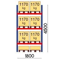 Starter bay 4500x1800 1170kg/pallet,8 EUR pallets
