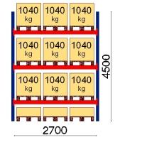 Starter bay 4500x2700 1041kg/pallet,12 EUR pallets