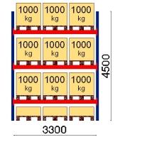 Starter bay 4500x3300 1000kg/pallet,12 FIN pallets