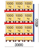 Kaubaaluse riiul lisaosa 4500x3300 1000kg/alus,12 alust