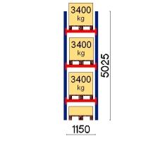 Kaubaaluse riiul põhiosa 5025x1150 3400kg/alus,4 alust