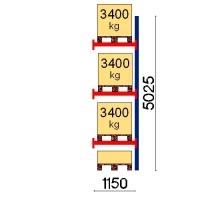 Kaubaaluse riiul lisaosa 5025x1150 3400kg/alus,4 alust