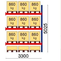 Kaubaaluse riiul lisaosa 5025x3300 860kg/alus,12 alust