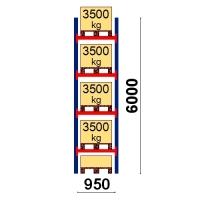 Kaubaaluse riiul põhiosa 6000x950 3500kg/alus,5 alust