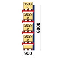 Add On bay 6000x950 3500kg/pallet,5 EUR pallets