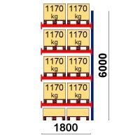 Add On bay 6000x1800 1170kg/pallet,10 EUR pallets