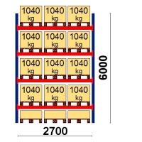 Starter bay 6000x2700 1041kg/pallet,15 EUR pallets