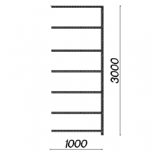 Laoriiul lisaosa 3000x1000x400/7 tasapinda, kasutatud