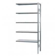Extension bay 2500x1000x600, used, 5 shelves