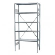 Starter bay 2500x1000x600, used, 5 shelves