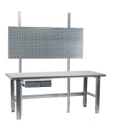 Töölaud 2000x800 + sahtli, perfoseina ja tsingitud jalgadega