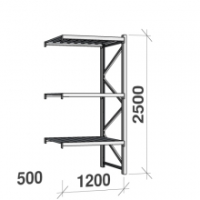 Laoriiul jätkuosa 2500x1200x500 600kg/tasapind,3 tsinkplekk tasapinda