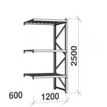 Laoriiul jätkuosa 2500x1200x600 600kg/tasapind,3 tsinkplekk tasapinda