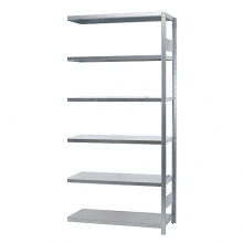 Extension bay 2500x1000x600, used, 6 shelves